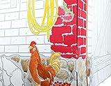 Papphaus mit Bauernhof-Tiermotiven - 3
