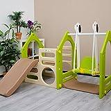 Kinderspielhaus mit Rutsche Schaukel - 4