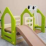 Kinderspielhaus mit Rutsche Schaukel - 5