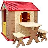eyepower Kinderspielhaus mit Tisch und 2 Bänken - 3