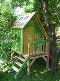 Stelzenhaus MAYA aus Holz mit Rutsche - 5