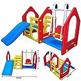 LittleTom Kinder Spielhaus mit Rutsche und Schaukel - 2