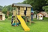 Steiner Holz Spielhaus Stelzenhaus mit Rutsche