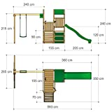 FATMOOSE Spielturm PowerPalm Triple XXL - 6