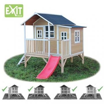exit loft spielhaus auf stelzen mit veranda und rutsche. Black Bedroom Furniture Sets. Home Design Ideas