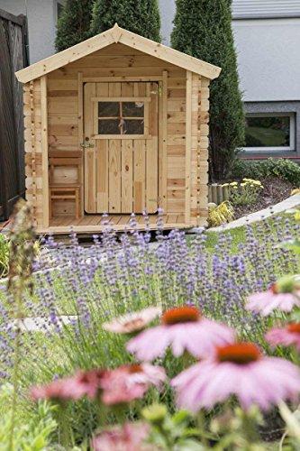 Gartenpielhaus aus Holz inkl. Dachpappe und Fußboden