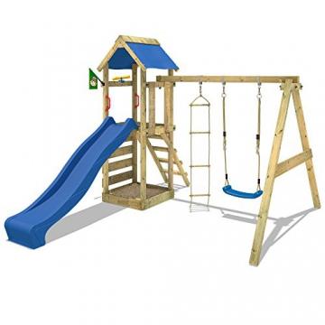 WICKEY Spielturm FreeFlyer mit Rutsche, Schaukel, Sandkasten, Kletterwand und Sandkasten