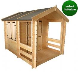 Holzspielhaus mit Veranda