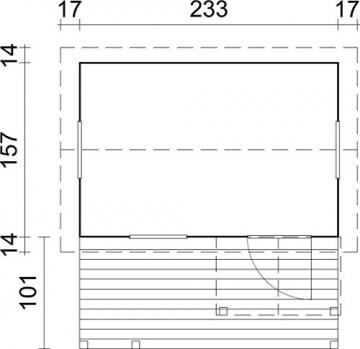 Kinderspielhaus Kalmia K4 inkl. Fußboden
