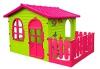 Kinderspielhaus Keny Toys mit Terrasse XXL pink