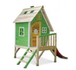 Stelzenhaus MAYA aus Holz mit Rutsche
