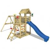 WICKEY Spielturm MultiFlyer mit Holzdach