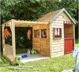 Kinderspielhaus mit Veranda aus Holz