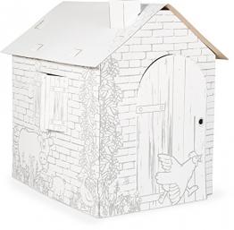 Papphaus mit Bauernhof-Tiermotiven
